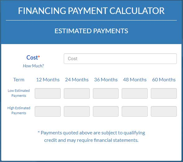 Dimension Funding Payments Calculator